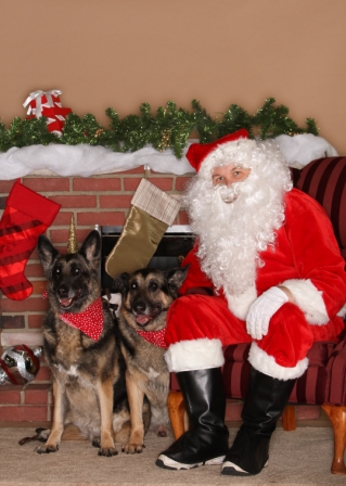 Conan & Phoenix visit Santa